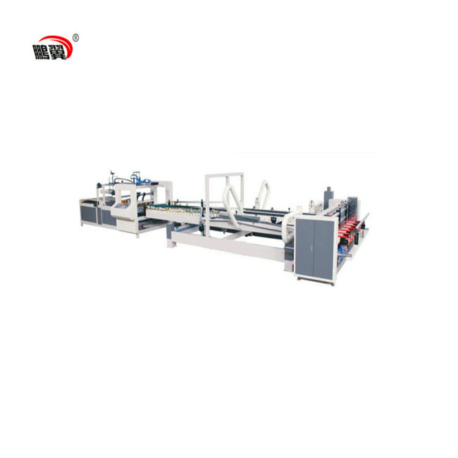 ZH-QZD 2600 corrugated carton folder gluer machine for paperbox