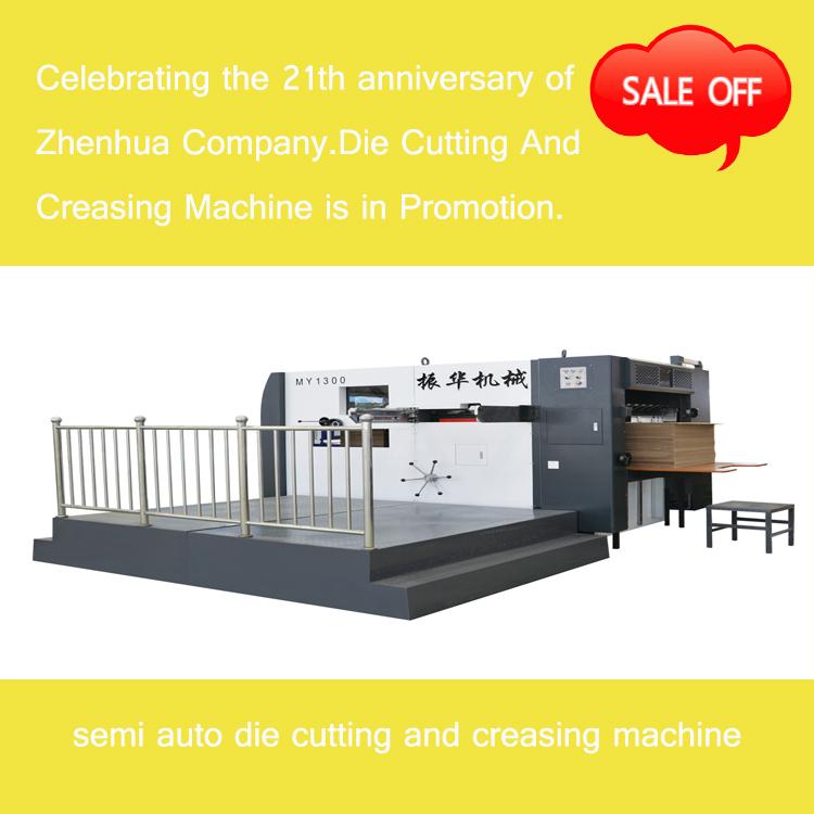 Semi-automatic Die Cutting And Creasing Machine