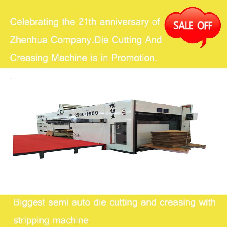 Biggest Semi-automatic Die Cutting And Creasing Machine