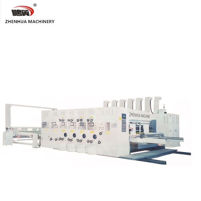 SYKM 4215-2400 Lead edge feeder 4 color printer slotter and stacker machine