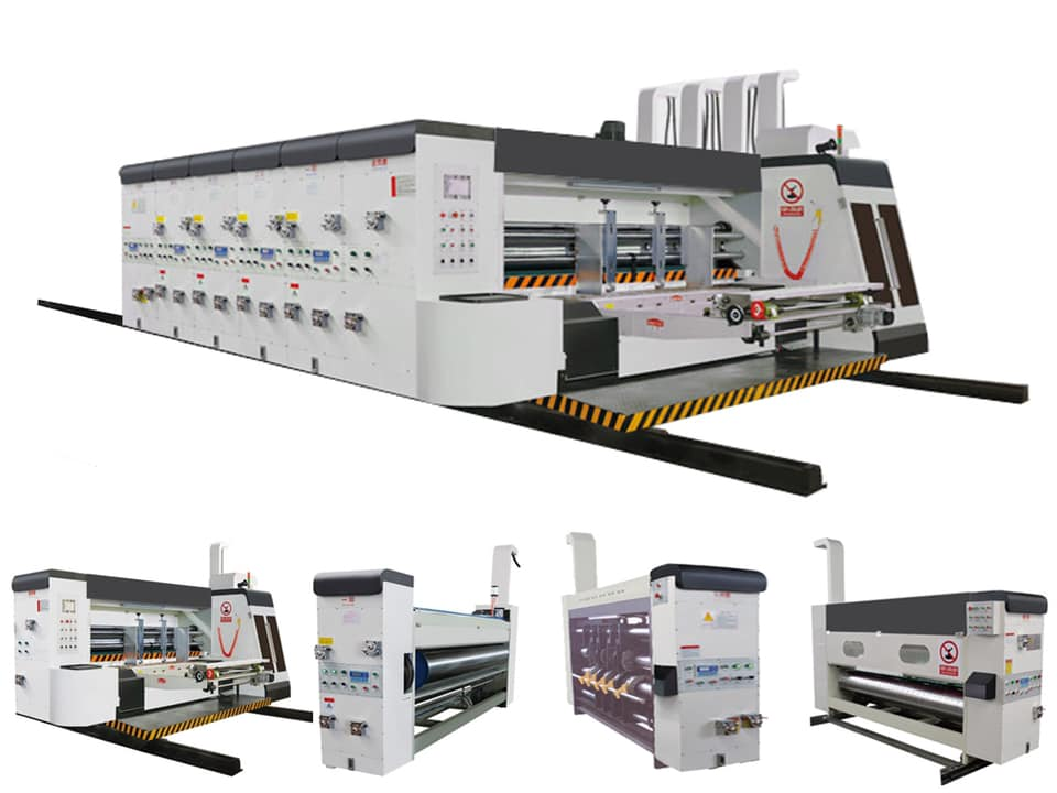 ZH-SYKM-H Automatic Corrugated Box Flexo Printing Slotting Die Cutting And Making Machine Price Favourable