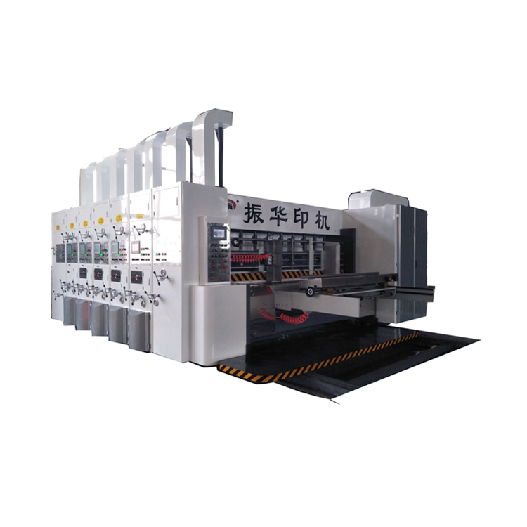 ZH-YSF-D high speed corrugated carton box making machine for printing slotting die cutting the carton box with the