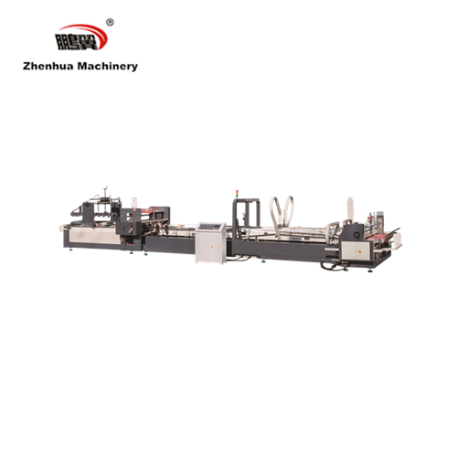 ZH-QZD 2600High speed automatic carton boc folder gluer machine with strapping machine