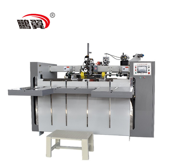 ZH-BDJ 2500 Single piece semi auto stitching nailing making corrugated cardboard box machine